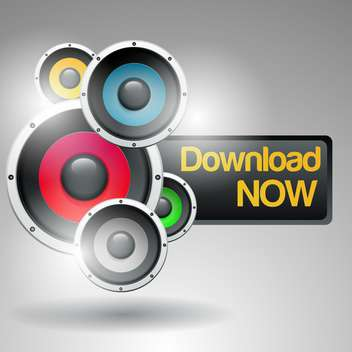 Music download now vector sign - Free vector #131832