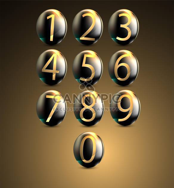 Glowing telephone keypad illustration - Free vector #131892