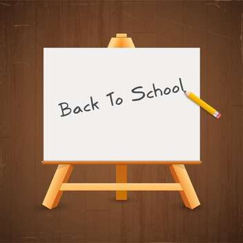Text back to school on a blackboard - vector gratuit #131912