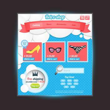Web site design template vector illustration - vector #131932 gratis
