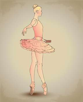 Beautiful ballerina dancing vector illustration - Free vector #131952