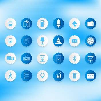 Set of icons on a theme communication vector illustration - vector #131972 gratis