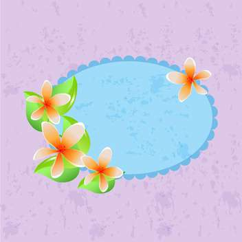 Vector floral frame on purple background - Free vector #132062