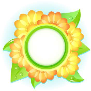Vector floral frame on white background - Free vector #132092