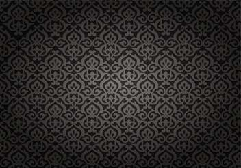 Black vintage seamless pattern - vector gratuit #132122