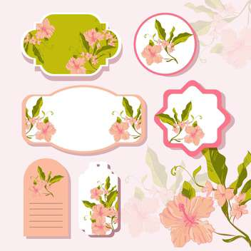 Vector floral background with cute frames with flowers - vector gratuit #132152