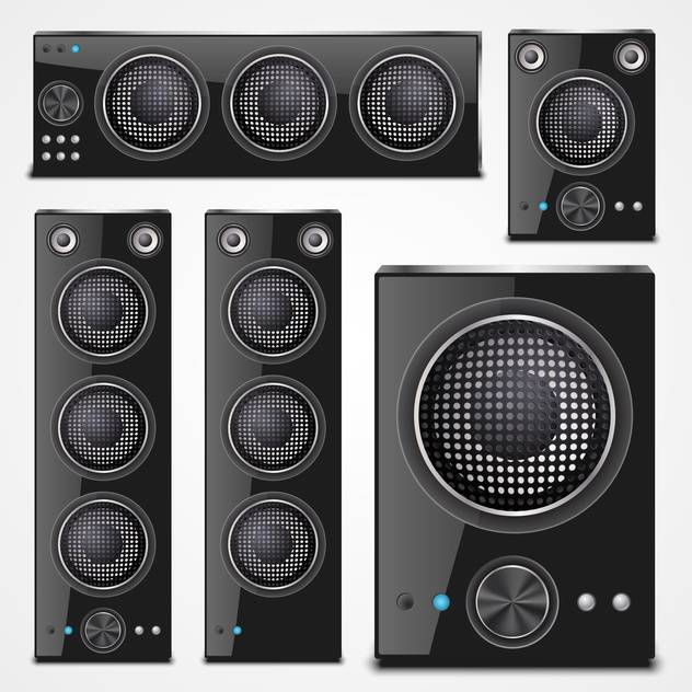 Sound speaker set on a white background - бесплатный vector #132192