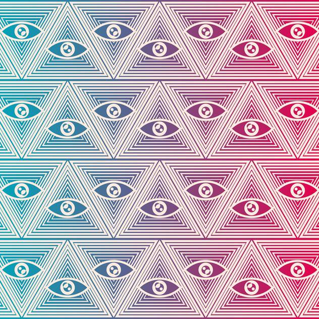 Seamless vector background with eyes - vector #132202 gratis