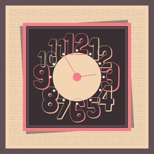 Vector vintage clock,vector illustration - vector gratuit #132302