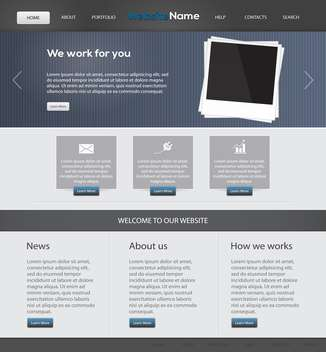 Web site design template, vector illustration - бесплатный vector #132332