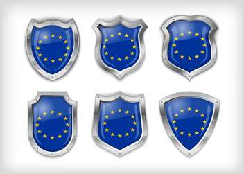 Different icons with European Union flags,vector illustration - vector #132372 gratis