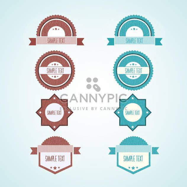 Set of vector vintage labels - 8 different items - Free vector #132382