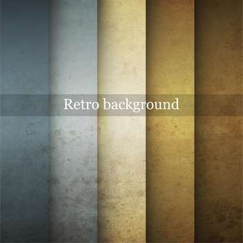 Grungy vector retro background in differet colors - vector gratuit #132402