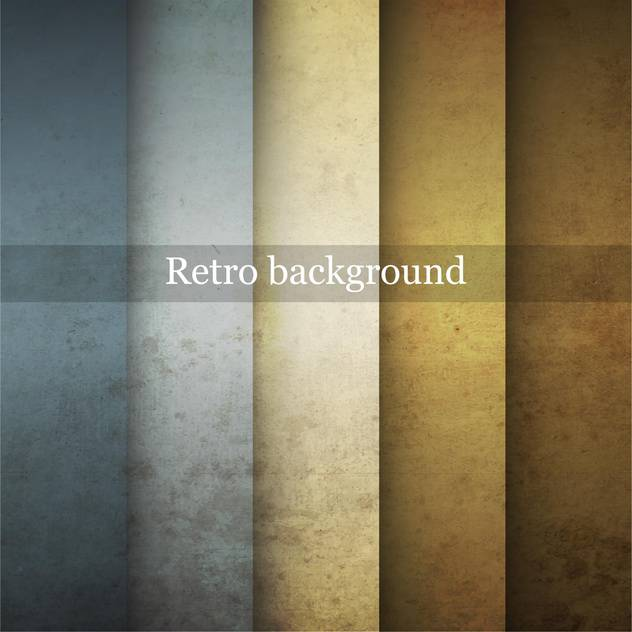 Grungy vector retro background in differet colors - Free vector #132402