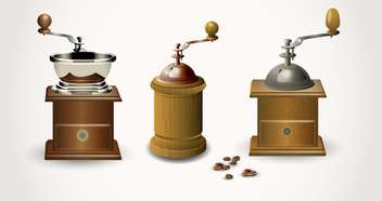 Vintage coffee grinders ,vector illustration - бесплатный vector #132412