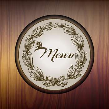 Restaurant floral menu card on wooden background - Free vector #132432