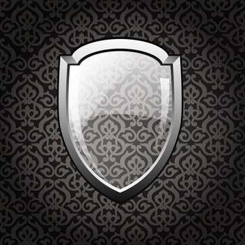 vector glossy shield background - vector gratuit #132532
