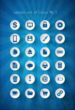 set of web computer icons - vector #132732 gratis