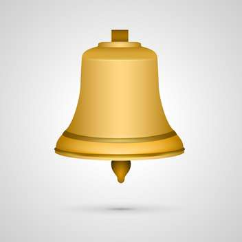 vector golden bell illustration - vector #132772 gratis