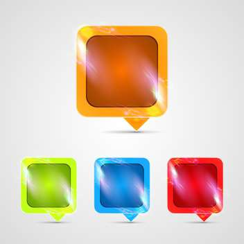 vector glossy buttons set - vector gratuit #132802
