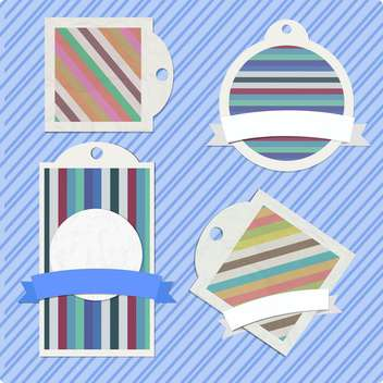 vector set of striped frames - vector gratuit #132822