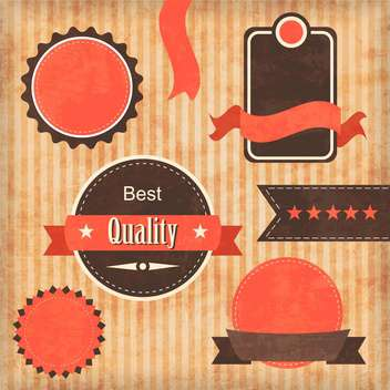 vintage premium quality labels set - бесплатный vector #132852