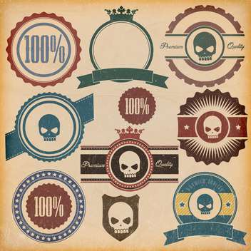 vintage premium quality labels set - vector #132862 gratis