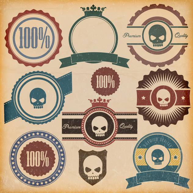 vintage premium quality labels set - Free vector #132862