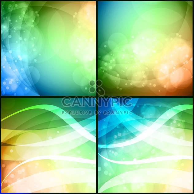abstract background in light swirls - Free vector #132872