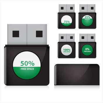 flash drive set vector illustration - vector gratuit #132912
