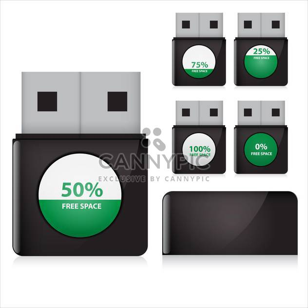 flash drive set vector illustration - Free vector #132912