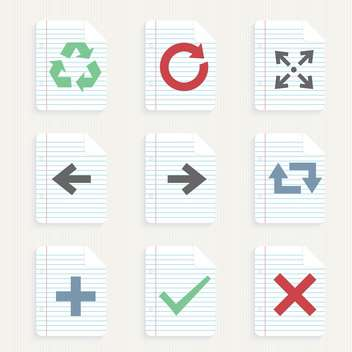 arrows icons set background - бесплатный vector #132972