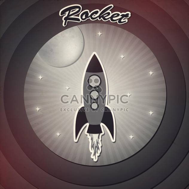 rocket in space vintage background - Free vector #133002
