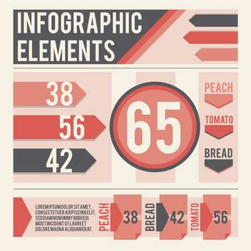 business infographic elements set - vector gratuit #133012