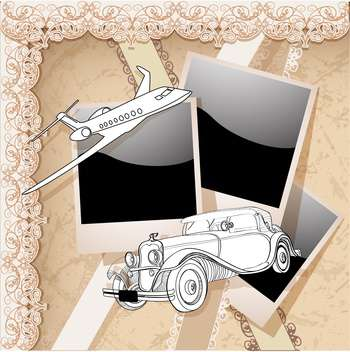 vector vintage photo frames set - vector gratuit #133032