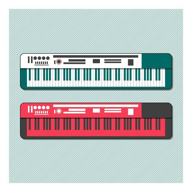 music synthesizer vector set - бесплатный vector #133042