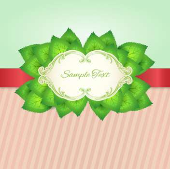 vector floral background with place for text - vector gratuit #133112