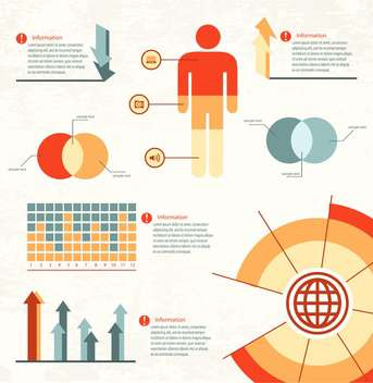 business infographic elements set - vector gratuit #133122