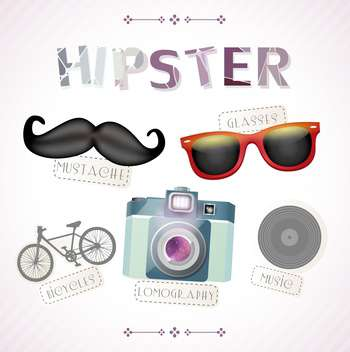 hipster accessories vector elements - vector #133142 gratis
