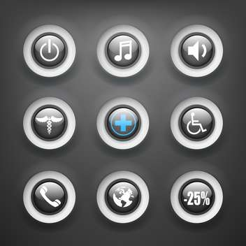 set of various vector icons - vector #133162 gratis