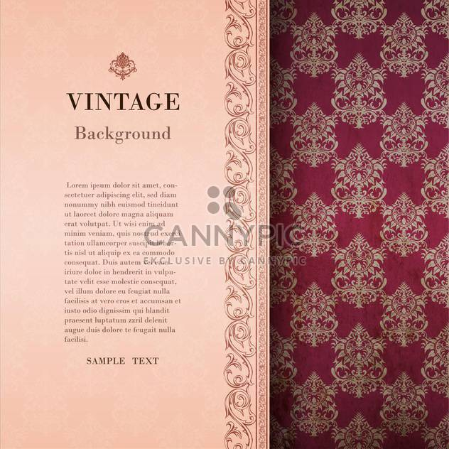 vintage damask frame background - Free vector #133172