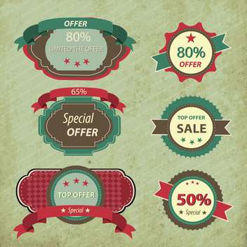retro discount shopping signs - vector #133182 gratis