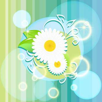 vector floral summer background - vector #133222 gratis