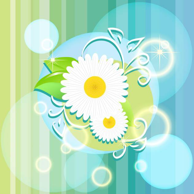 vector floral summer background - vector gratuit #133222