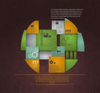 business retro infographics set - vector gratuit #133332