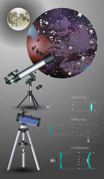 astronomic telescope vector illustration - vector gratuit #133402