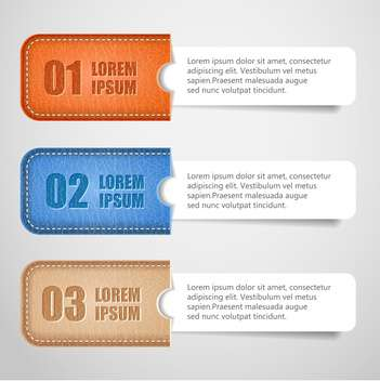vector set of business banners with numbers - vector #133462 gratis