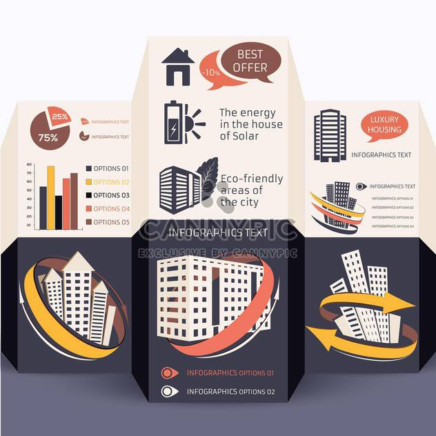 elements of business infographics set - Free vector #133472