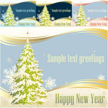 happy new year greeting card - vector gratuit #133482