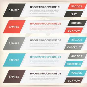 vector elements of business infographics - vector gratuit #133492